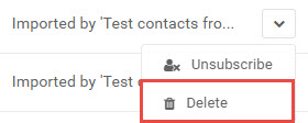 Delete contacts option