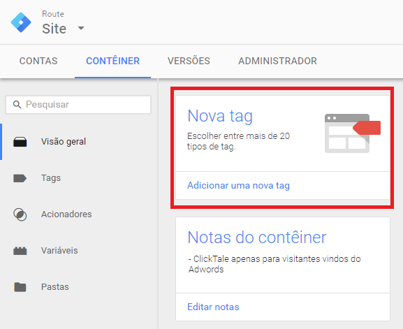 Integrating Route using Google Tag Manager Step 2